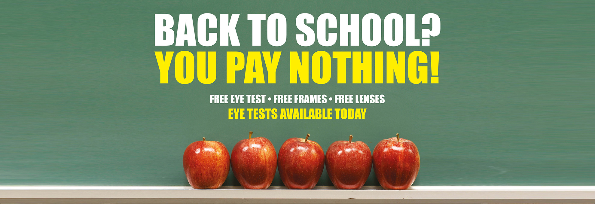 Back to School?  You Pay Nothing!