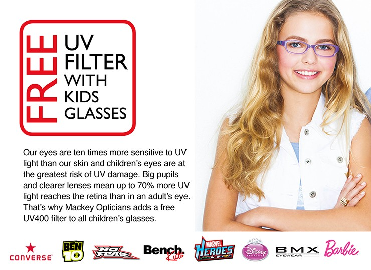 Free UV Coating on Kid's Spectacles