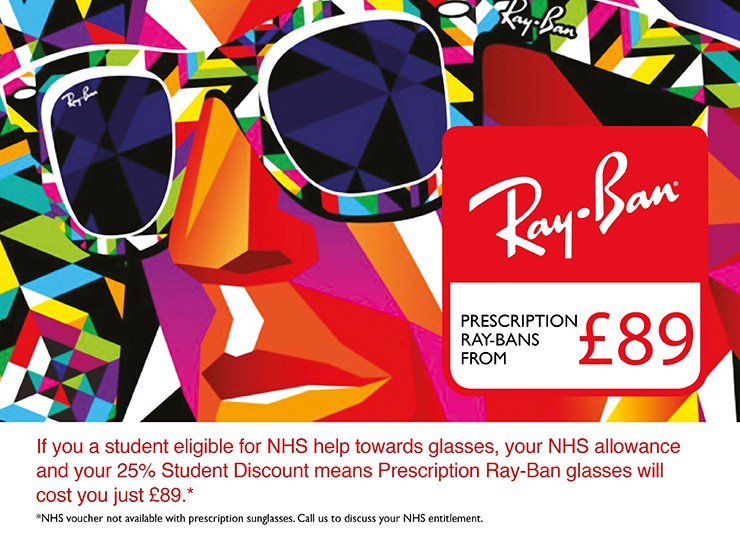 Student Offer - Ray-Bans from £89