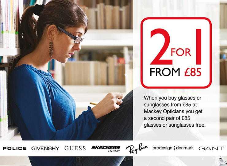 2 for 1 from £85