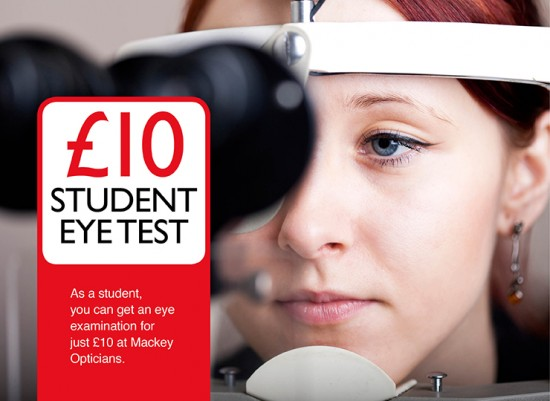 Students £10 Eye Exam