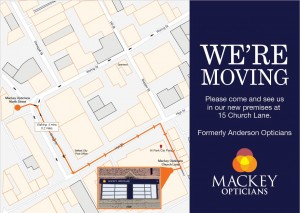 Mackey Opticians North Street moving to 15 Church Lane