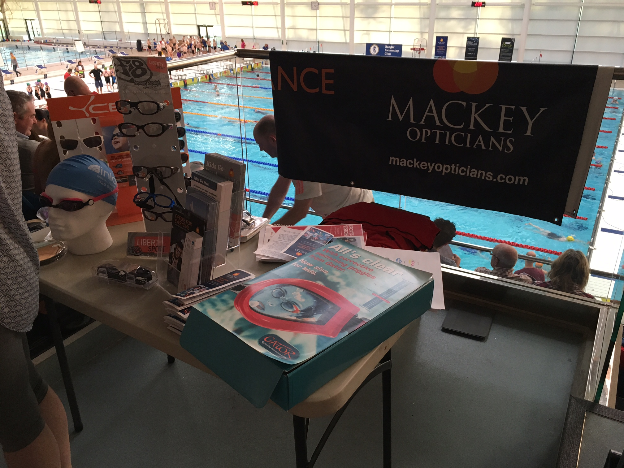 Mackey Opticians at Bangor Minor Swim Gala