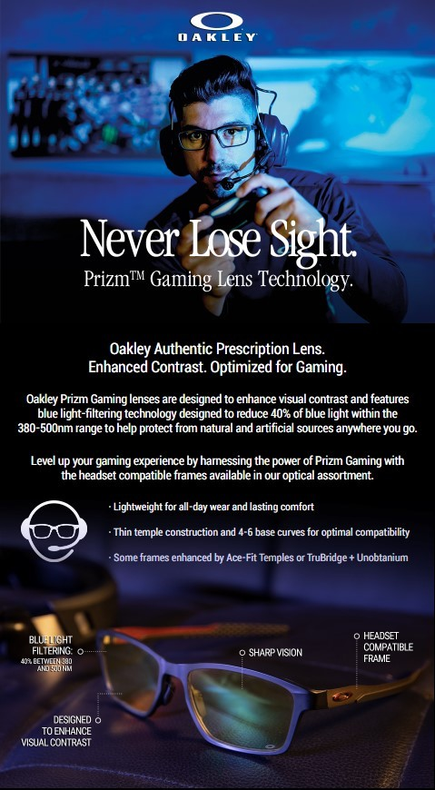 Oakley Prizm Gaming Technology
