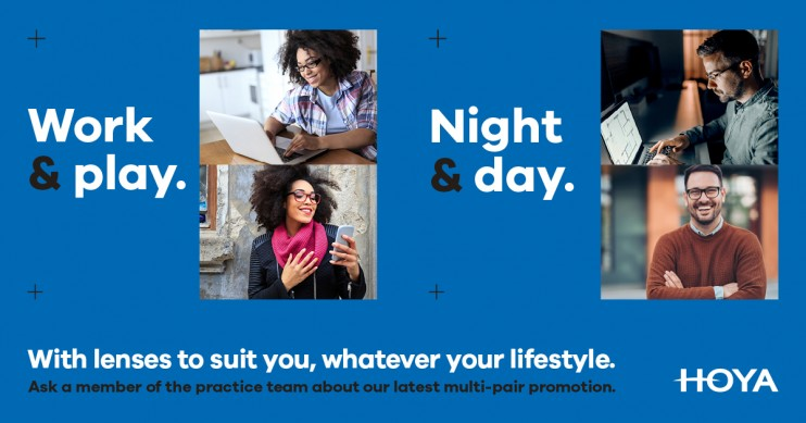 Work Play Night & Day - Multipair spectacle lens offer